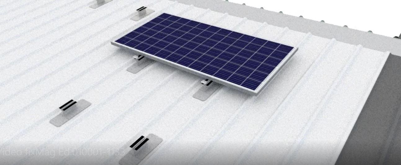 Placas solares sin perforaciones
